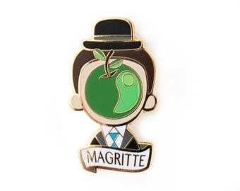 Rene Magritte Pin Brooch