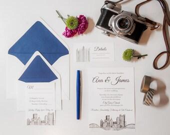 Pittsburgh Skyline Wedding Invitations | Wedding Invitation Suite