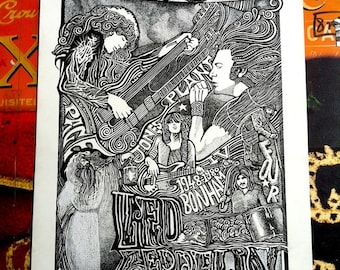 Led Zeppelin Poster Trilogy by Posterography