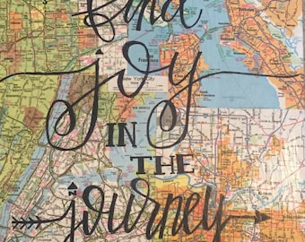 Find Joy in the Journey Map Collage
