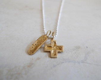 Doctor or Nurse What I want to be Necklace in Brass and Silver