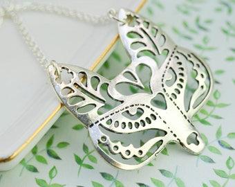 Geometric Fox Head Necklace - Ethnic Pendant - Boho Necklace - Indian Necklace - Indian Necklace - Minimalist Necklace - Simple