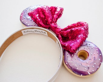 Galaxy Mickey Ears / Donut Mouse Ears / Pink and Purple Ears / Minnie Ears / Minnie Mouse Ears / Mickey Mouse Ears / Donut Ears / Disneyland