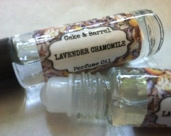 Lavender Chamomile Perfume Oil. Roll On Perfume 10ml.