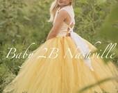 Yellow Flower Girl Dress ...