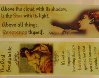 "Affirmation Bookmark~""Eyes Of God"" Laminated Bookmark~Prayer Group~Affirming Teen Girl Bookmark ~Trusting Souls~Abusive Relationship"