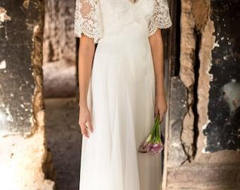 Modern-Vintage Elegant Boho Wedding Dresses by MartinMcCreaCouture