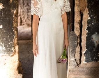 Boho Wedding Dress, Fairy Wedding Dress, Backyard Wedding Dress, Whimsical Wedding  Dress,