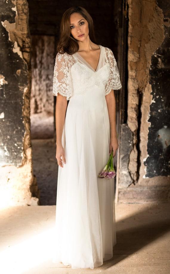 Boho wedding dress fairy wedding dress backyard wedding