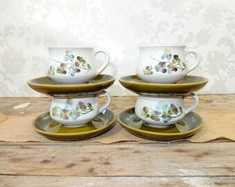 Green Teacups and Saucers Denby Shamrock pattern ... & Denby shamrock | Etsy