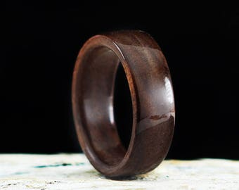 Wooden Ring Handmade From Walnut Wood Unisex