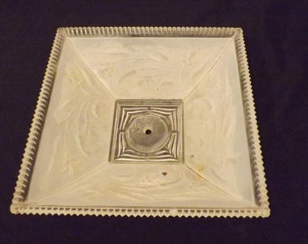 Antique Frosted Glass Sawtooth Ceiling Light Globe Shade