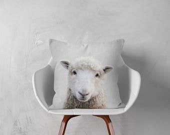 Decorative pillows, Farmhouse decor, Animals pillows Sheep Modern nursery Cushion Woodlands Home decor Animals decor Sheep gifts Baby pillow