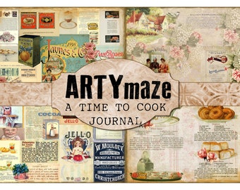 A TIME to COOK full size Journal Kit INSTANT Download