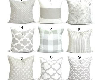 PILLOWS, Decorative Pillow, Throw Pillow, Accent Pillow,  Couch Pillow, Gray Pillow. French Farmhouse Decor, Taupe Grey, Cushion, Neutral.cm