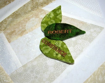 Family Tree Quilt Leaves Personalization