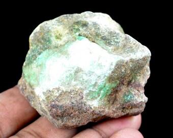 510 Ct. Natural Uncut Untreated Arizona Green Chrysocolla Gemstone Rough-Fresh Arrival