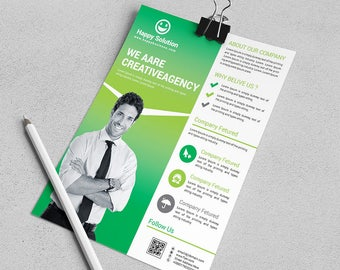 Corporate Business Flyer Design Template | Instant Digital File Download | Vol. 17