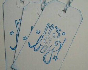 It's a boy tags. Baby tags. Baby shower tags. New baby tags. Baby favor tags. Baby gift tags. Baby boy tags.