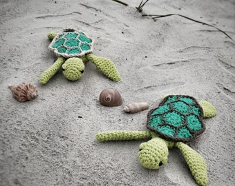 Amigurumi Crochet Pattern - Easy Cute Baby Sea Turtle