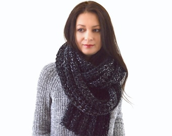 Knitted Scarf, Knit Men Scarf, Knit Woman Scarf, Classic Style Scarf | The Hanover