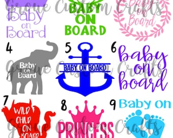 Baby On Board Car Decals