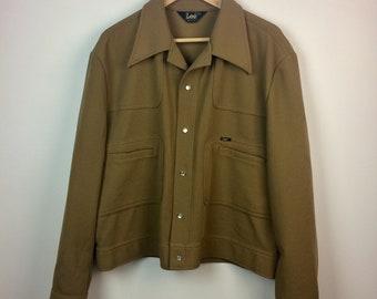 Vintage Lee Brand Men's Polyester Leisure Jacket Size Large