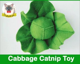 Cabbage catnip cat toy // felt toys, unique catnip cat toy,cute cat toys,vegetable catnip toy,felt catnip toy,Crafts4cats