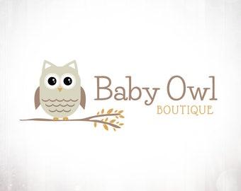 Premade Logo Design • Baby Owl