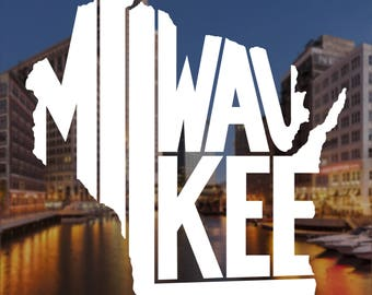 Milwaukee Decal, Milwaukee Sticker, Computer Decal, Computer Sticker, Laptop Decal, Laptop Sticker, Macbook Decal