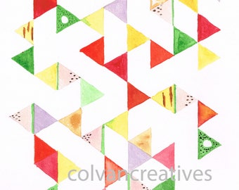 Geometric fruits print