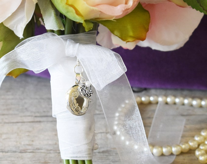 Brides Dad Memorial Locket