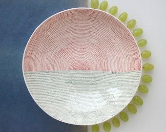 ceramic bowl - ceramic serving bowl - serving dish - handmade bowl - ceramic dinnerware - pottery bowl - new home gift - modern bowl - gift