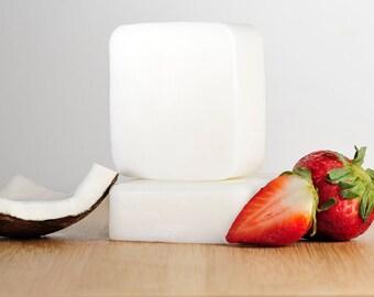 Coconut Strawberry Soap, Coconut Soap, Strawberry Soap, Natural Soap, Handmade Soap, Bar Soap