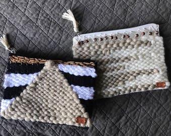 Handwoven zipper purse