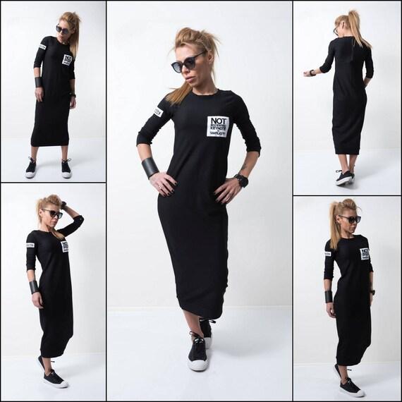 Trendy Plus Size Kleidung schwarzes Kleid Kleider für