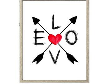 Love Printable - LOVE Arrows