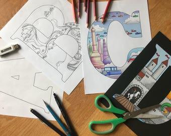Your idea in Letter   Letter Wall Art   Nursery Wall Art   Kids Room Art