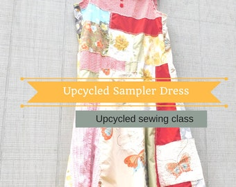 Patchwork, Sewing Classes, Upcycled Sewing, Refashion, Swing Dress, Repurposed, Sew, Online Class, Boho, Tutorials, Vintage, Patterns, Plus