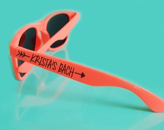 Custom Wedding Bachelorette Party Sunglasses