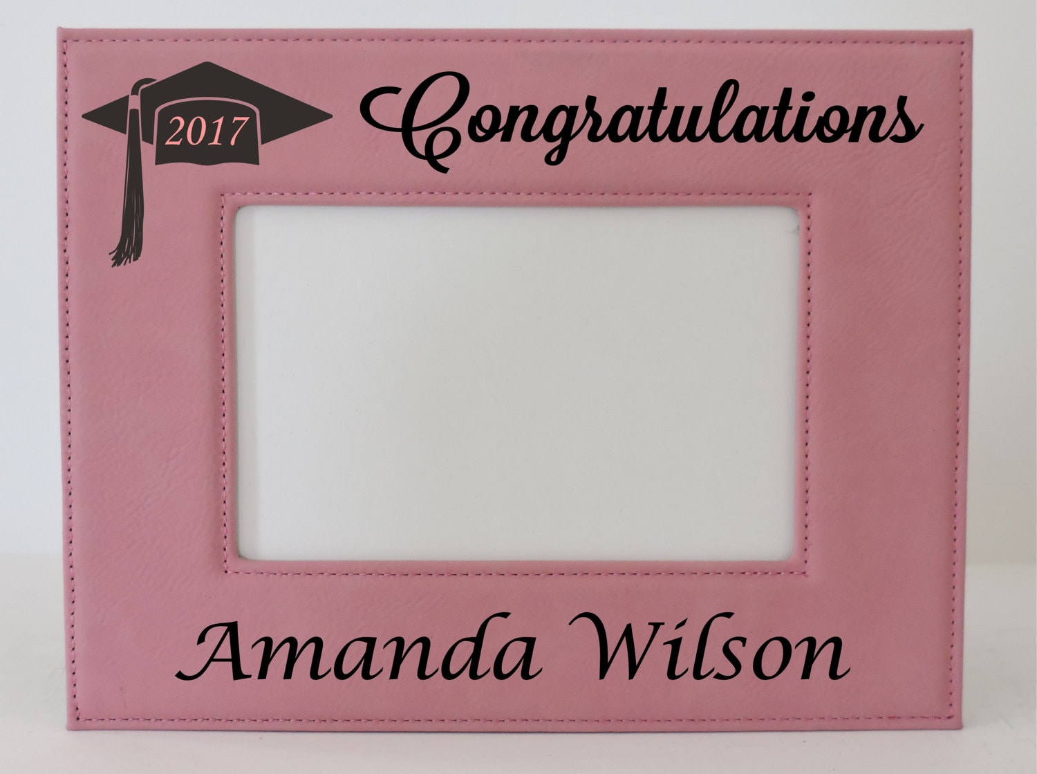 Graduation frame class of 2017 pink leather picture frame sold by personalizemegifts jeuxipadfo Image collections