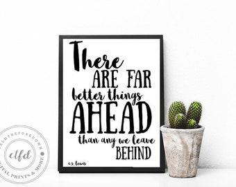 C.S. Lewis Quote Typography 8x10 Digital Print