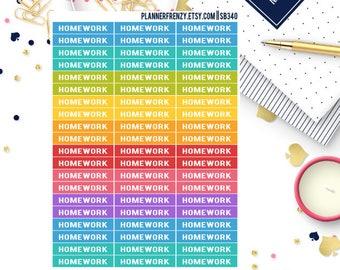 "60 ""Homework"" Section Header Planner Stickers! SB340"
