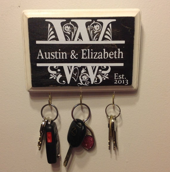 Custom Wedding Gift Personalized Keyholder Monogram Great For