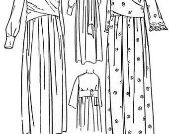 PAC7987 - 1921 Ladies' Tie-on or Button-on Kimono Sewing Pattern from Attic Copies by Past Patterns