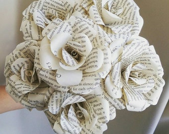 Pride and Prejudice upcycled Book Bouquets-Book lover gift-Book Bouquet-Book decor- Unique Gift- Bridal Bouquet- Paper Flowers-Wedding