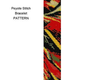Beaded Bracelet Pattern - Peyote Stitch Pattern - Pattern 65