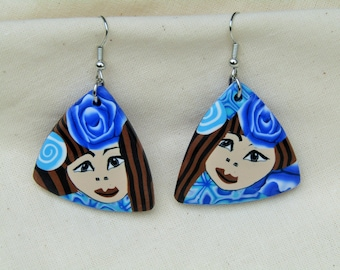 Fantasy polymer clay earrings