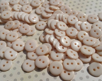 """Cream Buttons - Little Sewing Buttons - 7/16"""" Wide - 125 Buttons - LAST PACK"""