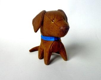 felt chocolate Labrador Retriever felt toy dog plush dog lab soft toy dog stuffed animal dog toy lab decal Labrador retriever puppy